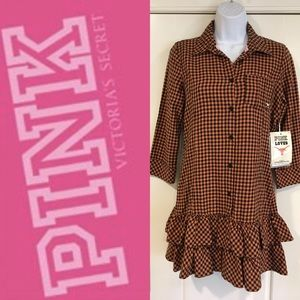 VS Pink Texas Longhorn button-up Tunic